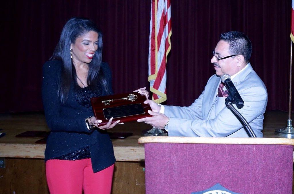 Areva Martin receives key to the city of Lynwood